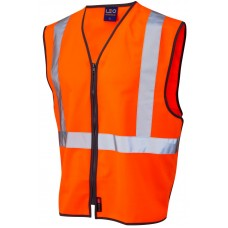 Railway High Visibility Zip Up Pull Apart Waistcoat Ris-3279-Tom Railway Use Certified  Class 2