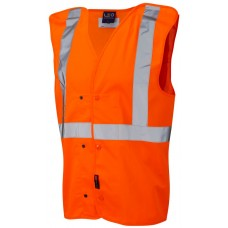 Underground Railway High Visibility Studded Pull Apart Waistcoat Class 2 Ris-3270 Tom