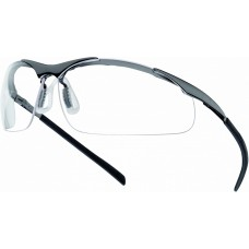 Contour PSI Metal Frame UV Filter Clear Lens Safety Glasses with FREE pouch.