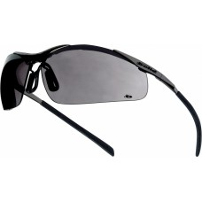 CONTOUR Metal Frame Bolle Smoke Lens Solar Protection Safety Glasses & FREE pouch