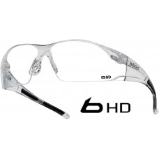Rush Bolle HD Coated Hydrophobic Top Clarity Safety Glasses & cord