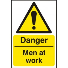 Danger Men At Work 20x30cm Safety Sign SAV