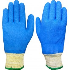 Fully Coated Blue Latex on DuPont™Kevlar® and Steel Cut Level 5 X5 Sumo Safety Gloves 4544