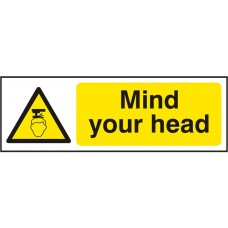 Mind Your Head Adhesive Vinyl 30x10cm Safety Sign