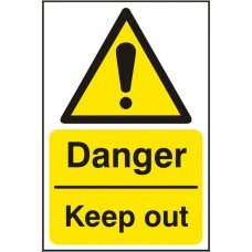 Danger Keep Out 20x30cm Safety Sign Rigid PVC