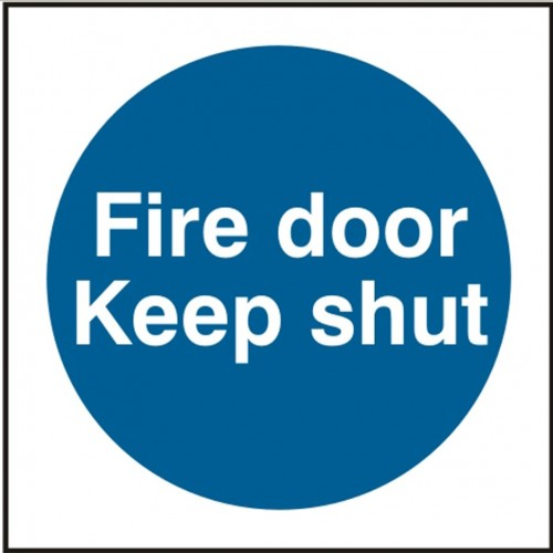 Fire Door Keep Shut Sign Height