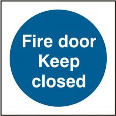 Fire door Keep Closed 10 x 10cm Safety Sign Rigid PVC