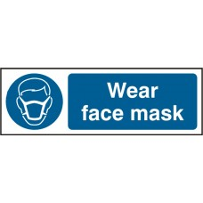Wear face mask (SAV) 30x10cm Safety Sign