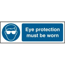Eye Protection must be worn 30 x 10cm Safety Sign Rigid PVC