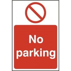 No Parking Rigid PVC 20 x 30cm Safety Sign