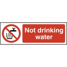 Not drinking water Self adhesive vinyl 7.5 x 15cmSafety Sign