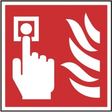 Fire alarm call point symbol Self adhesive vinyl 10 x 10cmSafety Sign