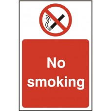 No Smoking 20 x 30cm Safety Sign Rigid PVC