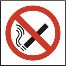 No smoking symbol Self adhesive vinyl 10 x 10cm Safety Sign