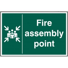 Fire assembly point 20 x 30cm Safety Sign Rigid PVC