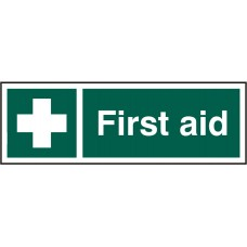 First Aid 30 x 10cm Safety Sign Rigid PVC
