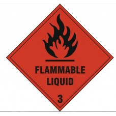 Flammable Liquid Safety Sign Self Adhesive Vinyl
