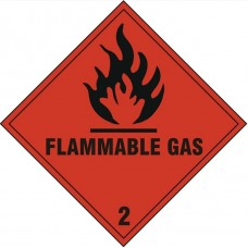 Flammable Gas Safety Sign Self Adhesive Vinyl