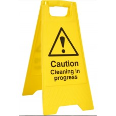 Caution cleaning in progress A-Board