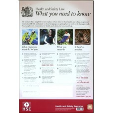 Health and Safety Law Poster 42 x 59.4cm Rigid PVC