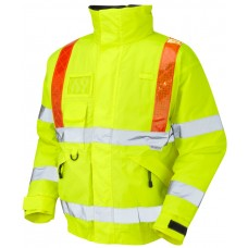 Highways Traffic Management Bomber Jacket Class 3 with Orange Braces
