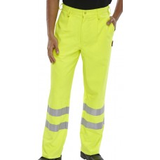 Fire Retardant & Anti Static High Visibility Protex Yellow Trousers