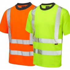 Leo Hi Vis UV Protection T Shirt Ris-3279-Tom Railway Use Certified Orange only  & Yellow EN471 Class 2