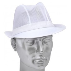 Trilby Hat White Nylon Mesh