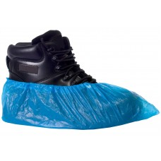"Disposable CPE 16"" Budget Overshoes Blue x 2000 (1000 pairs)"