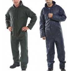 Quilt Lined EN343 Waterproof Cold & Wet Weather PU Coated Coverall