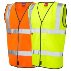 Protect Against Heat & Flames EN533 Leo High Vis Waistcoat Class 2