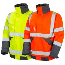 Superior Quilt Lined Hi Vis Class 3 & Ris-3279-Tom Railway Use Certified orange  Bomber Jacket