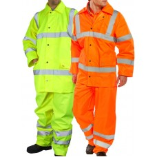 Click BSeen Lightweight Rain Suit Class 3 High Visibility Yellow or Orange