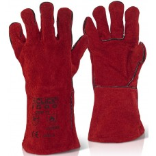 Cat II Red Heavyweight Leather Welders Gauntlet.