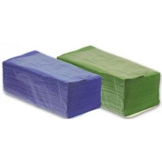 Paper Hand Towels C Fold 1 PlyEmbossed Blue or Green