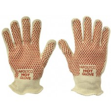 Polyco Hot Glove Patterned Nitrile Grip on Double Layered Cotton 250 Degree Heat Resistant
