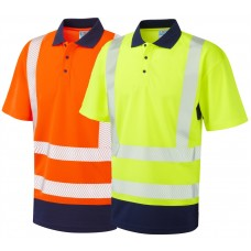 Leo COOLVIZ PLUS Summer 2 Tone High Vis Polo Shirt