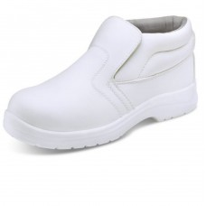 Food Industry White Micro Fibre Slip on Safety Boot S2