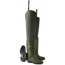 Dunlop Thigh Height Wader Green Full Safety with Midsole