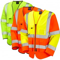 Exec Long Sleeved Zipped Waistcoat High Visibility Class 3 Yellow, Orange or Yellow & Orange