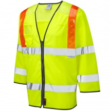 Traffic 3/4 Sleeve Zipped Orange Braces, ID & Phone Pocket Class 3