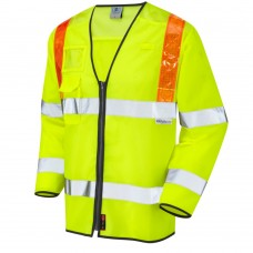 Traffic Full Long Sleeve Zipped Orange Braces, ID & Phone Pocket Class 3