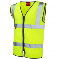 EN471 Class 2 & EN533 Limited Flame Spread Hi Vis Zipped Waistcoat