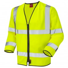 EN355 Hi Viz Fire Retardant Long Sleeve Class 3 EN471 Zipped Waistcoat