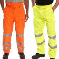 Cargo Hi Vis Trouser with Teflon® Stain Resist Coating Yellow or Orange