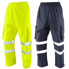 Cargo Waterproof Overtrousers Yellow Class 1 or Navy (non compliant)