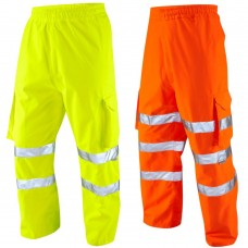 Breathable Waterproof Hi Viz Yellow or Orange Leo Cargo Overtrousers Class 1/ Ris-3279-Tom Railway Use Certified