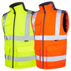 Interactive Leo Bodywarmer Yellow Class 2 & Railspec Orange