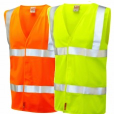 Hi Viz Fire Retardant Waistcoat Yellow or Orange Class 2