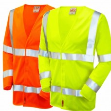 Hi Viz Fire Retardant Long Sleve Waistcoat Yellow or Orange Class 3